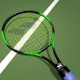 Racket de tennis fibre WISH