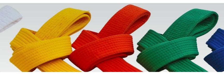 Ceintures karaté et taekwondo